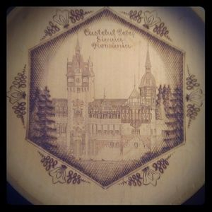 Wooden burned/etched plate